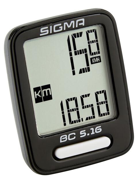 SIGMA SPORT BC 5.16 fietscomputer zwart